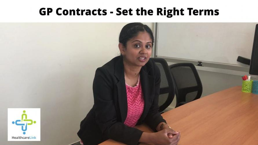 How to set the right terms for a GP contract